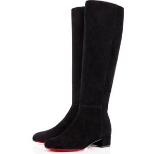 New Christian Louboutin Lili Boots Black Suede 36